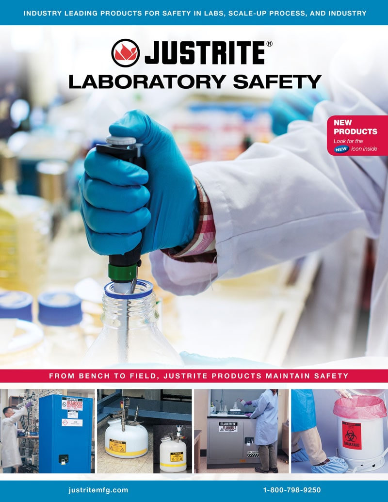 Justrite Lab Catalog Cover